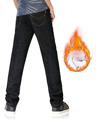 Demon&Hunter 801 Straight Series Hombre Pantalones Vaqueros Recto Forro Polar Jeans: Amazon.es: Ropa y accesorios