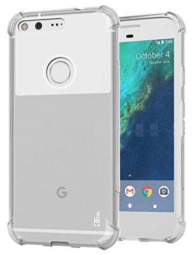 Google Pixel XL Case, DGtle [Shock Absorbent] Anti-Scratches TPU Gel Premium Slim Flexible Soft Bumper Rubber Protective Case Cover for Google Pixel XL (Clear)