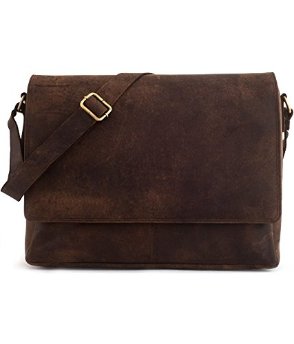 Handmadecraft Leather Satchel Shoulder Business Office Smart Casual College Uni Bag Natural Brown Vintage Unisex U4 (#2)