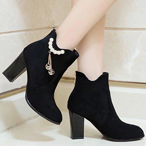 AIYOUMEI Women's Classic Boot Black N0TRI2
