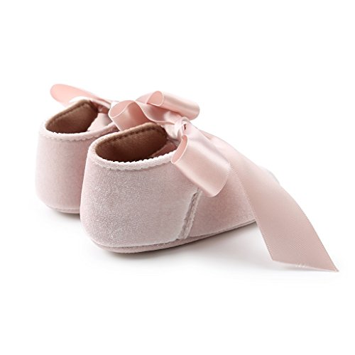 Antideslizantes Zapatos Para Zapatillas Meses 18 De Beige Primeros Bowknot Bebé 0 Prewalker Auxma Pasos Niña Bebés 0IqPxqd