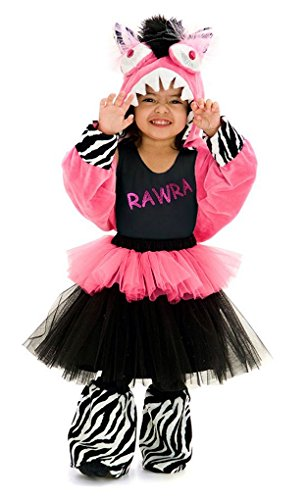 Mixed Girl Halloween Costumes (RWARA Monstar - Premium Monster Dress-Up Role Play Halloween Costume Kids Set for Girls by Princess Paradise (Toddler(18M to 2T), Rawra))
