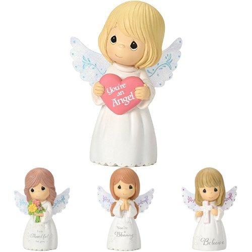 (Precious Moments, Mini Resin Inspirational Girl Set of 4 Angel Figurines)