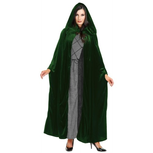 Panne Velvet Hooded Cloak Costume Accessory - One Size - Chest Size 40-44 -