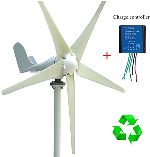 DC 24V 3/5 Blade Power Supply With Charge Controller 400W Wind Turbine Generator by Aromdeeshopping