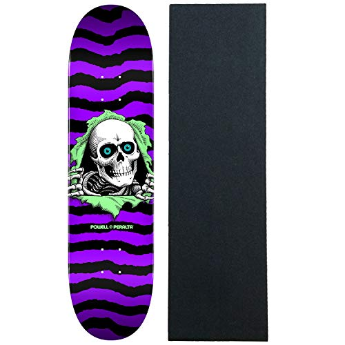 (Powell-Peralta Skateboard Deck Ripper Purple 8.5