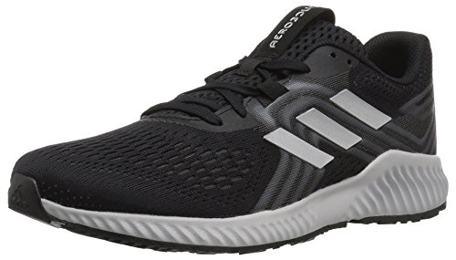 (adidas Women's Aerobounce 2 Running Shoe, Black/Silver Metallic/Grey, 10 M US)