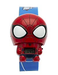 BulbBotz Marvel 2021159 Spider Man Kids Light Up Watch | red/blue | plastic | digital | LCD display| boy girl | official