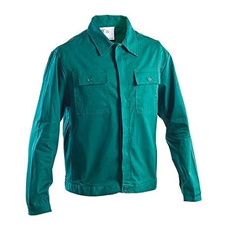 c109cdf485de Giacca abbigliamento lavoro sanforizzato cotone 100% gr 275 mq verde  giardiniere 46