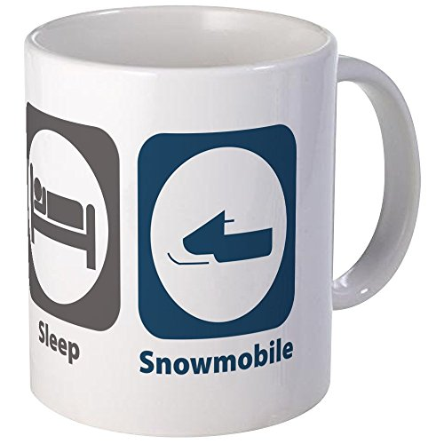 CafePress Sleep Snowmobile Unique Coffee