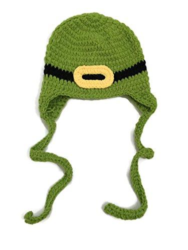 BubuBibi® Photography Prop St Patrick's Day Green Leprechaun Crochet Costume Hat
