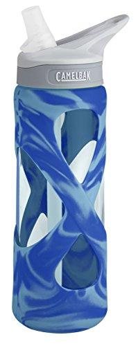 CamelBak Eddy Glass Water Bottle, Blue/Aqua Swirl, - Bpa Camelbak Bottle Free