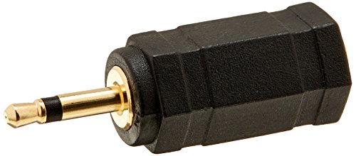 Monoprice 107122 2.5mm Mono Plug to 3.5mm Stereo Jack Adaptor, Gold Plated
