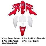 CRF50 Plastic Kit Red XR50 Plastic Fender Kit,Crf50