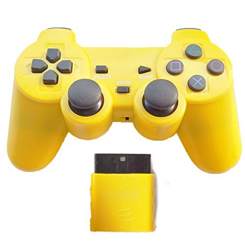 ng Controller for Ps2 Double Shock - Solid Yellow ()