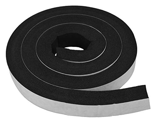 XCEL - Large, Extra Durable, Weather Stripping Foam Rubber Tape with Adhesive, Weather Resistant, Size 13 Feet x 1 Inch x 3/4 Inch, Made in USA