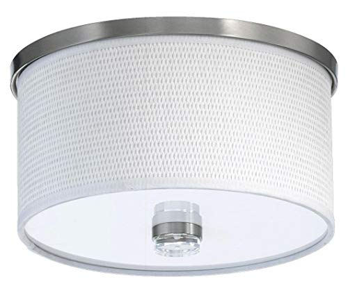 Copeland Transitional 1 Light - One Light Satin Nickel Drum Shade Flush Mount