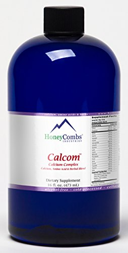 16oz CALCOM –Liquid Calcium Complex-Alcohol FREE, 99% Absorbable Calcium, Feel the DIfference Fast!