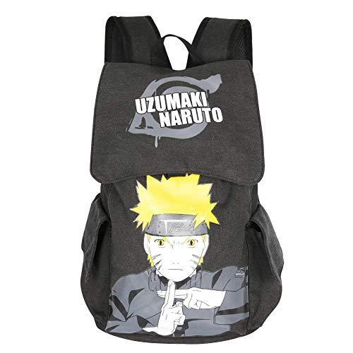 Innturt Classic Anime Canvas Backpack Rucksack Bag School Backpack Gray