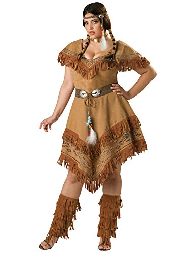 Plus Size Pocahontas Costumes (Indian Maiden Adult Costume - Plus Size 3X)