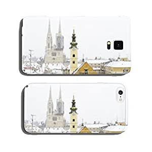 A view of the cathedral of Zagreb, Croatia, and picturesque roof cell phone cover case iPhone6 Plus