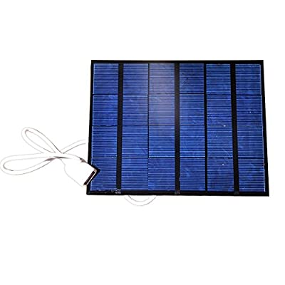 NUZAMAS Portable Solar Panel Charger 6V USB Connecton Power Recharge for Smart Phone Iphone