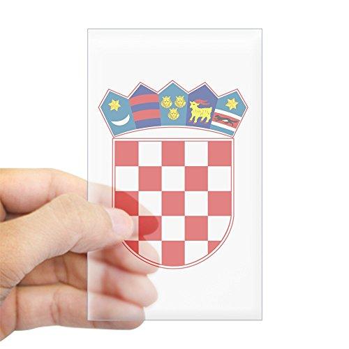 (CafePress Croatia Coat of Arms Rectangle Sticker Rectangle Bumper Sticker Car Decal )