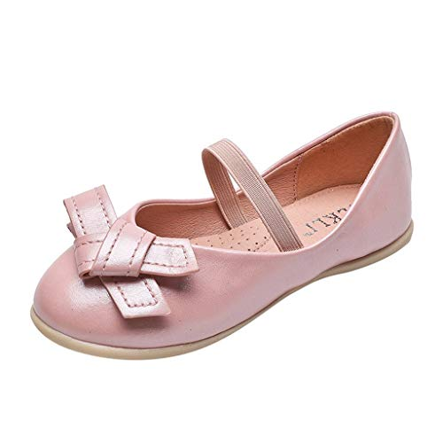 Mesh Emma Dress - Voberry Toddler Girl's Emma Mary Jane Ballet Dress Flats Bows School Uniform Shoes (Little/Toddler Girls Shoes/Big Kids) Pink