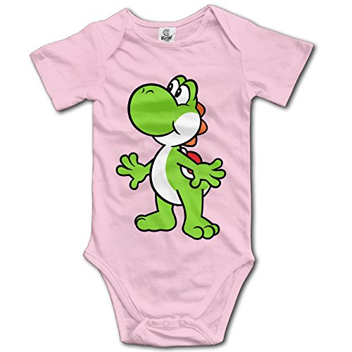 BACADI Baby's Shoeless Yoshi Hanging Bodysuit Romper Playsuit Outfits Clothes Climbing Clothes Short Sleeve (Yoshi Outfit)