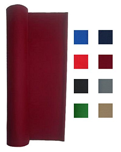 Pool Table Billiard Cloth - Performance Grade Pool Table Felt - Billiard Cloth - For A 7 Foot Table Burgundy