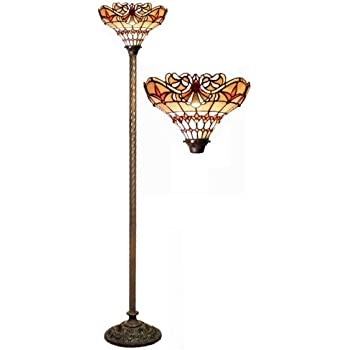 Tiffany-style Arielle Torchiere - Floor Lamps - Amazon.com