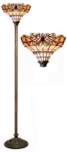 Tiffany-style Barouque Torchiere (Tiffany Style Torchiere Lamp)