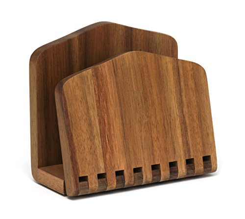Lipper International 1160 Acacia Wood Adjustable Napkin Holder, 6-1/2'' x 3-1/4'' x 6'' by Lipper International (Image #1)