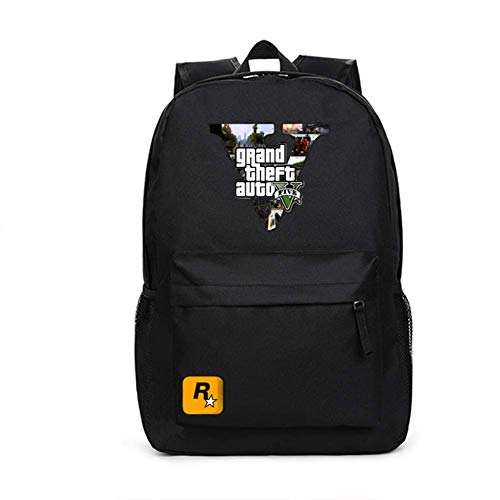 Mokago Grand Theft Game Auto 5 Bag Cool GTA5 Black Sports Backpack Durable Backpacks (Grand Theft Auto San Andreas Car List)