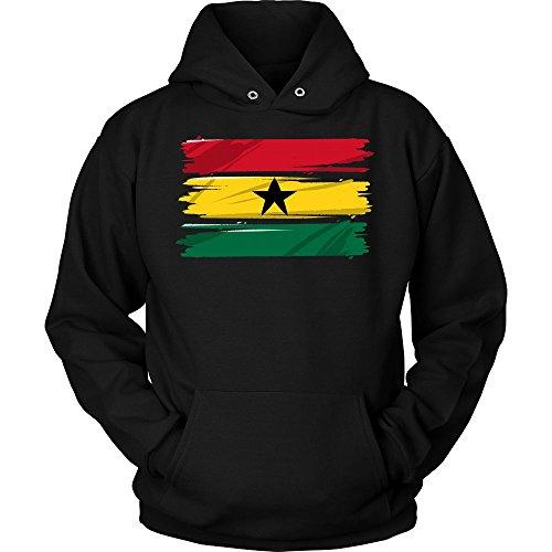 Ghana Africa Vintage Retro Distressed Flag Hoodie by Ghana African Pride hoodie