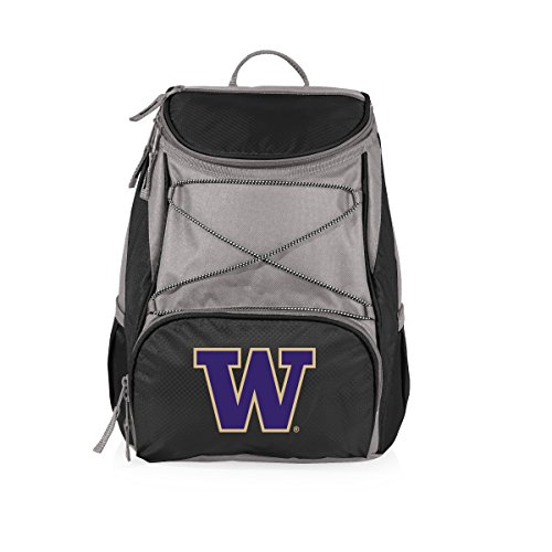 PICNIC TIME NCAA Washington Huskies PTX Insulated Backpack Cooler, Black