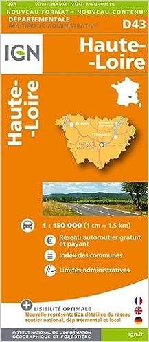 Lire en ligne D43 HAUTE-LOIRE  1/200.000 pdf, epub
