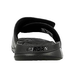 Nike Mens JORDAN HYDRO 5, BLACK/WHITE-COOL GREY, 15