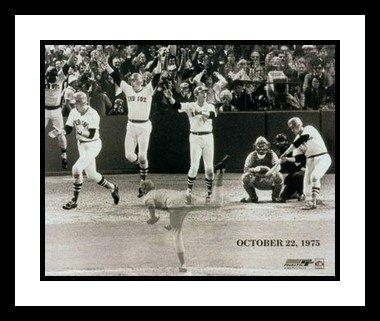 Carlton Fisk Framed 8x10 Photo - Boston Red Sox 1975 World Series HR