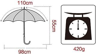 ZDS Umbrella, Stripe Automatic Nanometer Anti-Uv Shade Three Fold Umbrella Foldable, Non-Slip Handle Windproof Umbrella