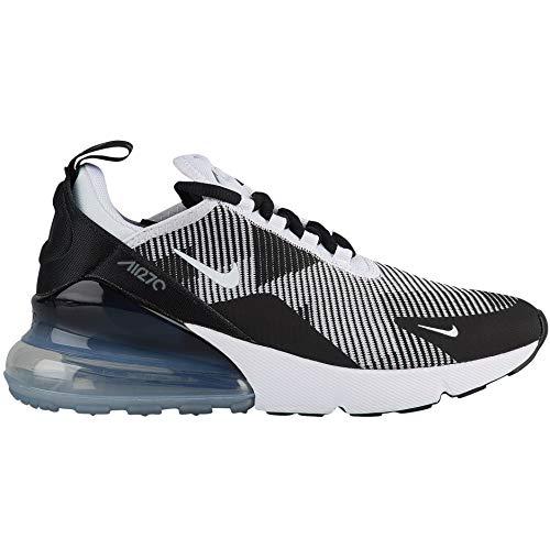 (Nike Kids' Grade School Air Max 270 Knit Jacquard Shoes (7, Black/White/Grey))