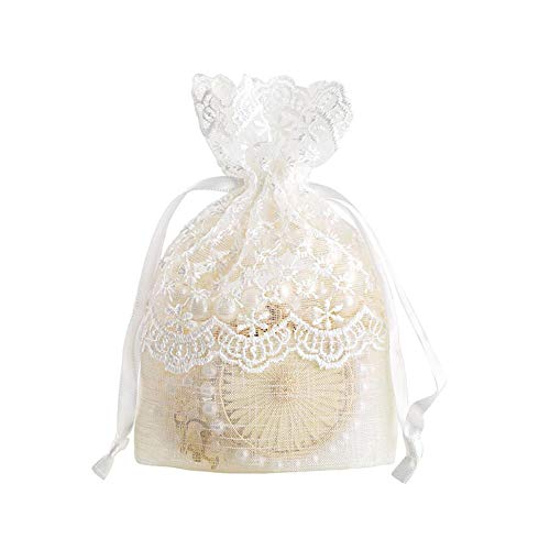 Lace Gift Bag - Lace Drawstrings Pouches Bundle Pockets Candy Bags Jewelry Bags Ring Stud Earrings Bracelet Necklace Storage - Lace Stud