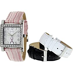 GUESS Women's U0032L2 2013 Sparkling Pink Watch Set