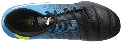 Puma Girls evoPOWER 4.3 FG Jr Sneaker (Little Kid/Big Kid) Black/White/Atomic Blue