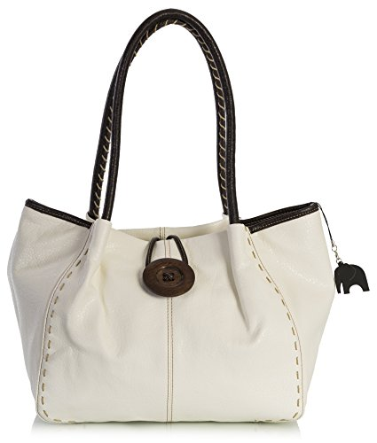 One BHSL a Borsa Shop donna Handbag Big spalla Cream qOFnTY0