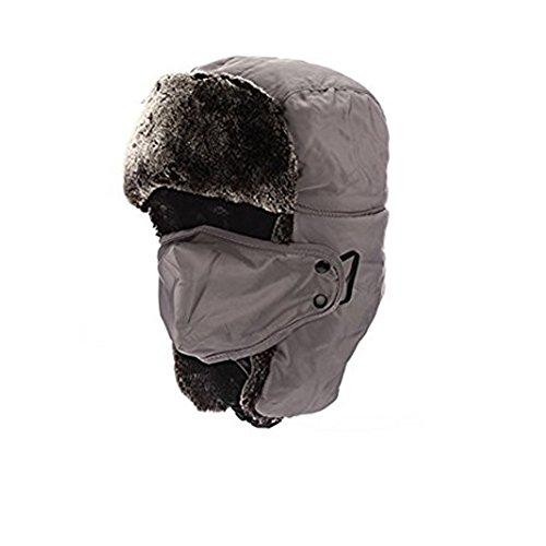 拷問に慣れ苛性Outry 飛行帽 防寒帽子 パイロットキャップ マスク 耳あて付 メンズ レディース 冬 スキー アウトドア 外出 仕事 男女兼 用