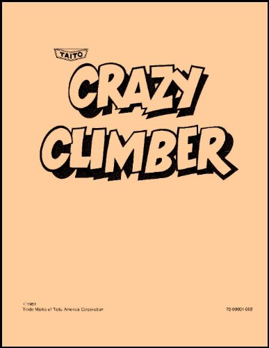 Crazy Climber Arcade Game Service & Repair Manual