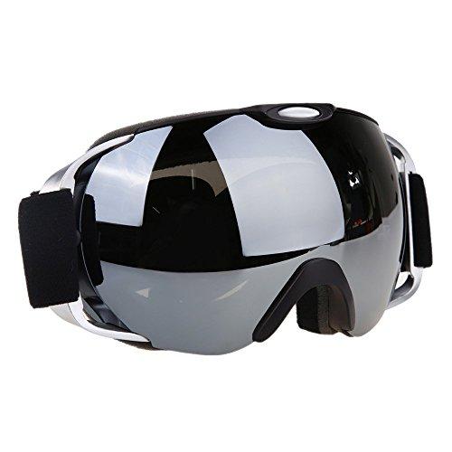 Snow Ski Goggles, VILISUN Snowboard / Snowmobile Goggles, for Adult Men Women & Kids, Anti-fog Double Spherical Lens, Full REVO Coating, UV400 Protection, Adjustable Strap, Helmet Compatible