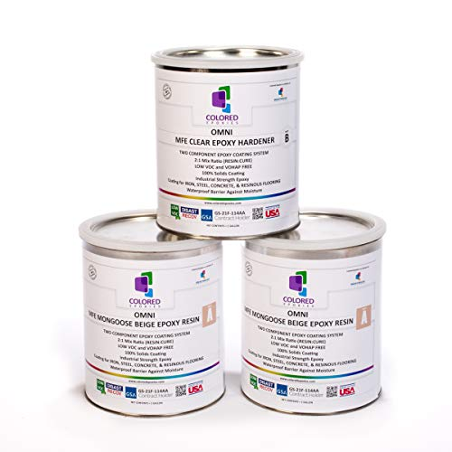 Colored Epoxies 10022 Light Beige Epoxy Resin Coating Made...