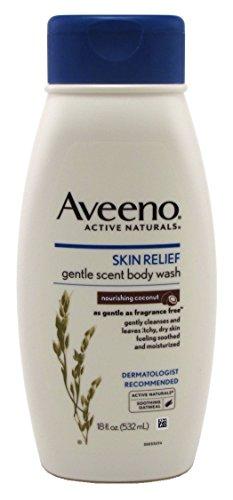 Aveeno Body Wash Skin Relief Nourishing Coconut 18 Ounce (532ml) (2 Pack) ()